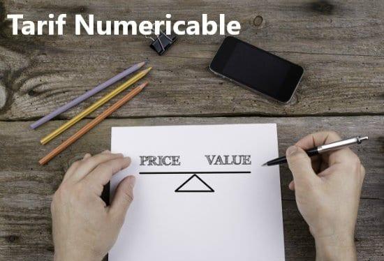 les tarifs de numericable