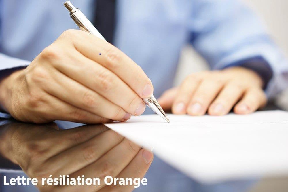 Lettre Résiliation Orange Notre Modèle Type