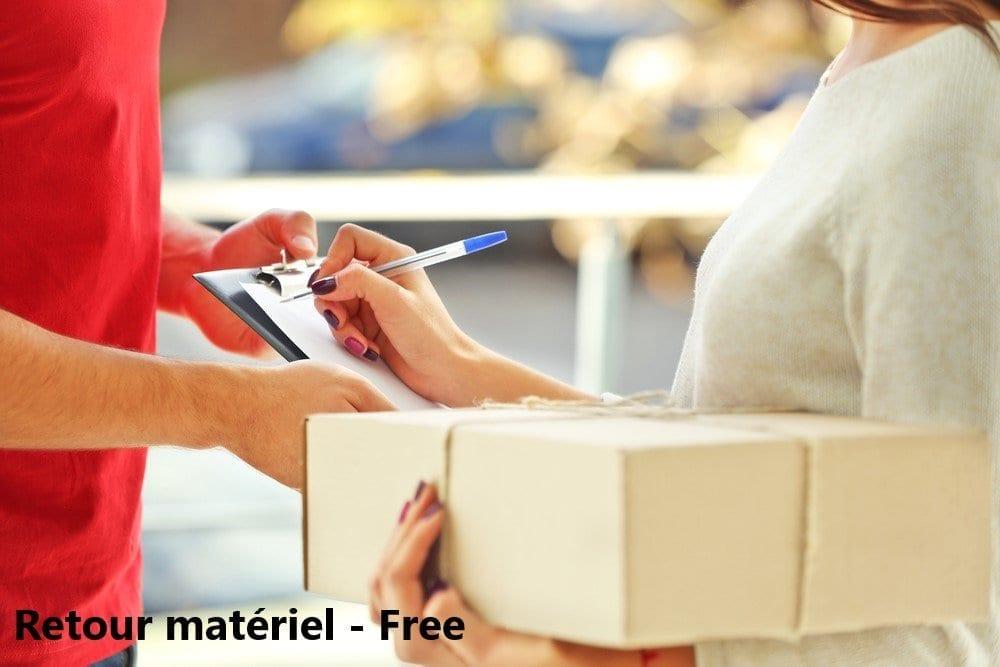 adresse pour renvoyer le materiel free