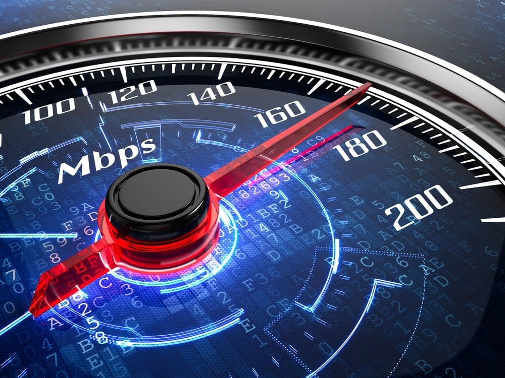 test vitesse fibre optique