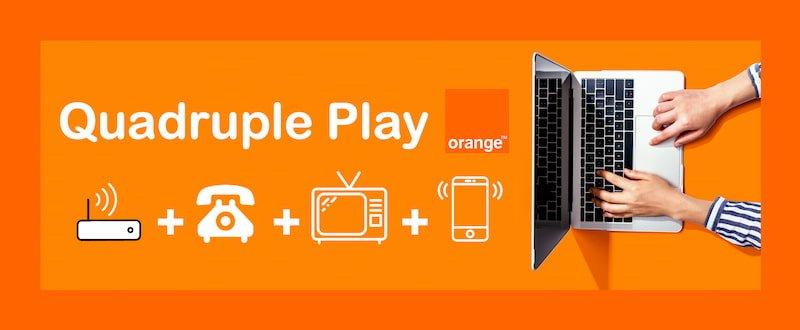 Quadruple play orange